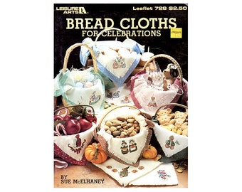 Bread Cloths for Celebrations Cross Stitch Leaflet, Holidays Bread Cloths, Bread Cloths Cross Stitch, by NewYorkTreasures Etsy