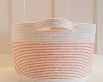 Extra Large Orange Rope Basket