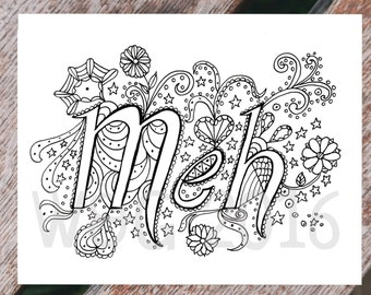 Printable Coloring Page - coloring page for adults - Meh