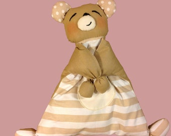 baby bear sleep toy toddler comforter nursery toy newborn toy bear nursery comforter baby toy kids toy woodland baby shower cuddly toy
