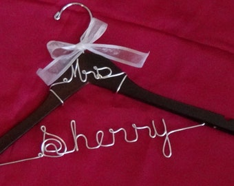Wedding Hanger, Custom Wedding Hanger, Bridal Hanger, Bride Hanger, Personalized Wedding Hanger, Personalized Bridal Hanger