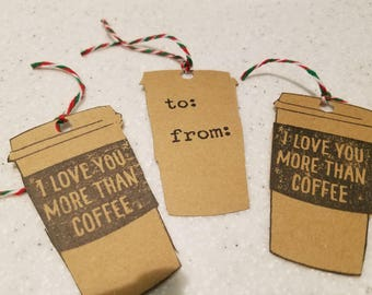 Coffee Lovers Christmas gift tags