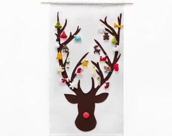 Christmas Advent Calendar - Pattern - Advent Calendar - Reindeer with 24 Treasured Characters