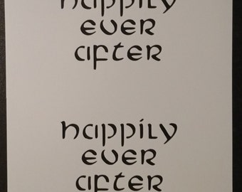 Happily Ever After Custom Stencil FAST FREE SHIPPING