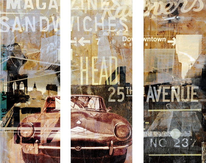NEWYORK AVENUE I by Sven Pfrommer - 120x120cm Triptych Artwork is ready to hang