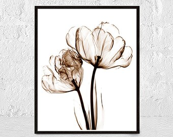 Original flowers print, Flower wall art, flowers poster, large poster, flower printables, gift for her, flower decor art print, Floral Paint