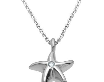 Plutus Sterling Silver High Polish Star Fish Pendant