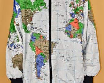 Map jacket etsy 80s 90s map jacket vtg vintage kurt cobain grunge hip hop fashion gumiabroncs Choice Image