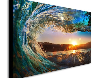 Big Wave Surf Canvas Wall Art Print - Various Sizes