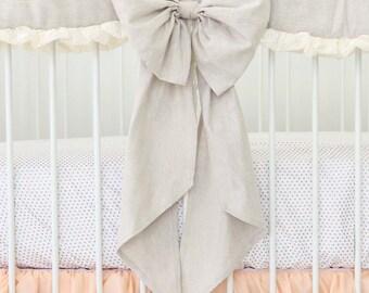 Linen Crib Bow