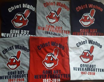 Cleveland Indians. Chief Wahoo Gone but never forgotten Shirt