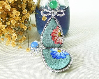 Original design of hand embroidered Brooches