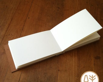 Handmade Sketchbook with Accordian Style Pages