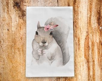 Squirrel Tea Towel/Kitchen Towel
