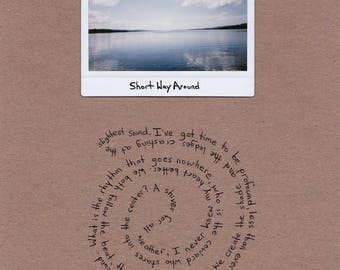 Short Way Around / instant film and poetry / 8.5 x 11 inches