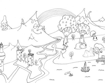 DOWNLOAD - Colouring page A4 - Checking the waters