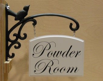 Hanging Powder Room Sign