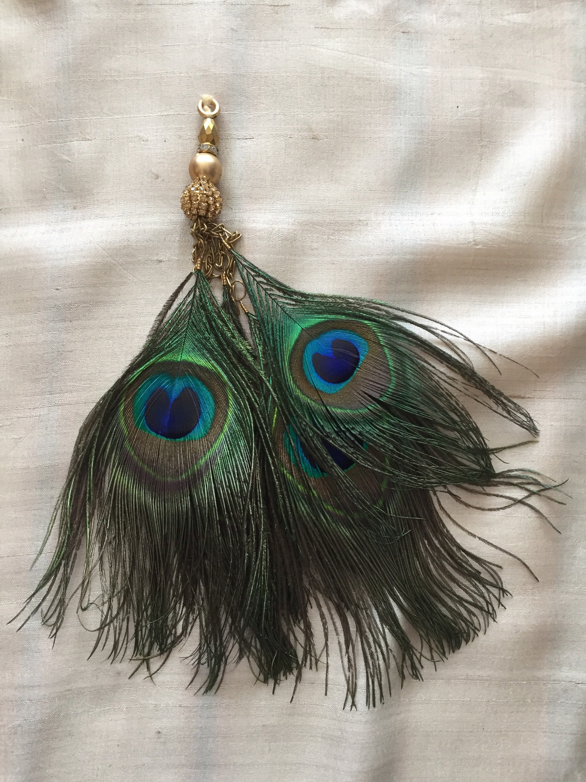 final there feather look img necklace diy earrings allis simply peacock