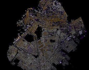 Brooklyn abstract map