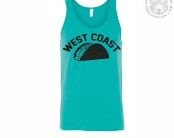 Unisex West Coast TACO Mens Tank Top -hand screen printed xs s m l xl xxl (+ Colors) workout