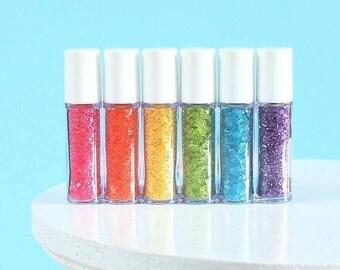 Mini Bright Rainbow Sprinkles Set, Mini Sparkling Sugar Set, Rainbow Sparkling Sugar, Sparkling Sugar Sampler, Sprinkle Sampler, Party Favor