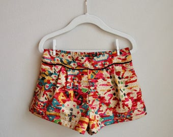 Coachella shorts for little girl, printed shorts for little girl, little girl spring and summer shorts