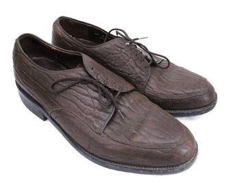 Dacks  Leather Baffin Seal Brown Oxford Dress Shoes Sz 12 D Mens Vintage 1970s