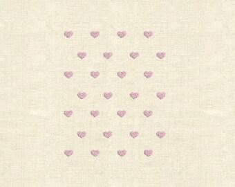6 Heart pattern Machine embroidery design heart