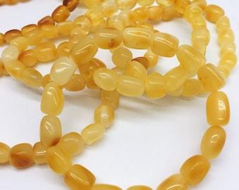 Raw Unpolished Baltic Amber Bracelet, Milky Color