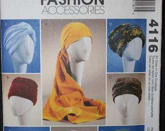 McCalls 4116   Turbans, Headwraps and Hats