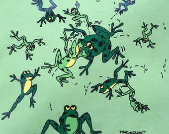Frog T shirt, Toadal Chaos frog shirt with frogs goofy fun frogs.