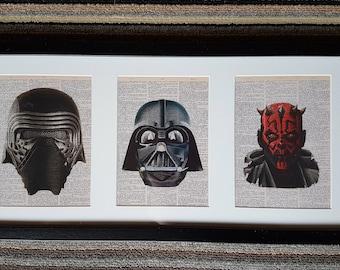 Star Wars Framed Dictionary Prints