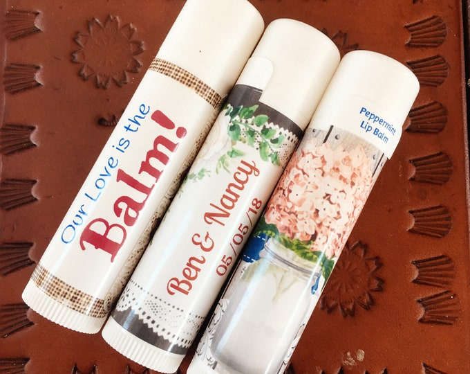 Country Wedding Party Favors   Outdoor wedding, Rustic Wedding Lip Balm Favors, chapstick   Our Love is the Balm   Western Wedding favors