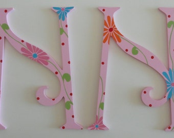 Adorable Floral Wall Letters