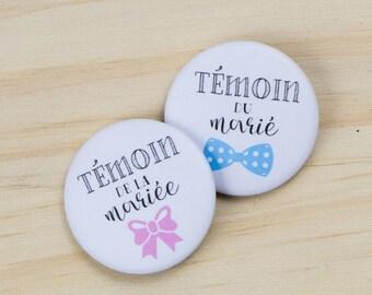 2 badges wedding maid of honor + best man