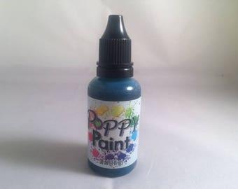 Teal Poppy Paint