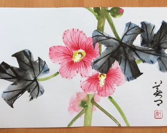 Original Chinese Painting-Flower(Flos Hibisci)