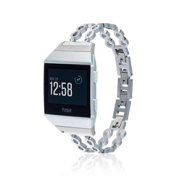 Fitbit Ionic Band -  Infinity - more colors available - stainless steel and zirconia stones