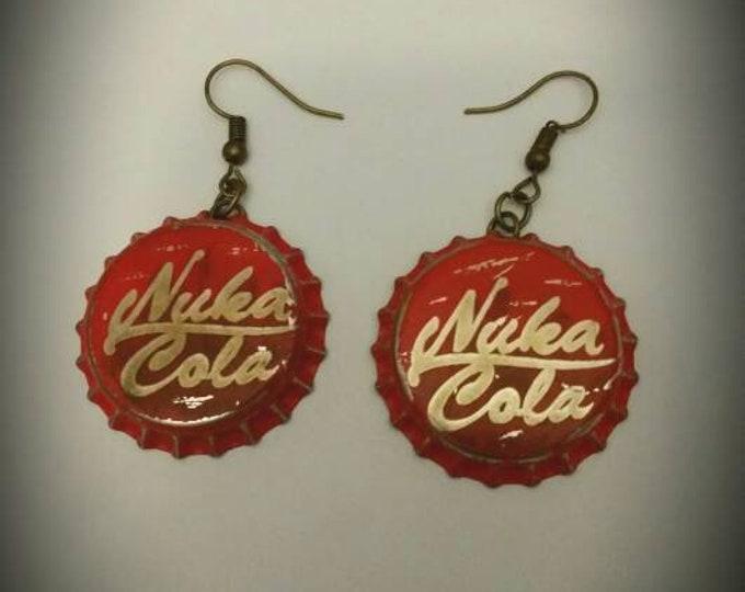 Nuka Cola Bottle Cap Fallout Inspired Earrings