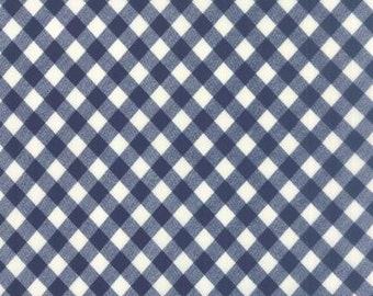 Navy Gingham by Bonnie and Camille for Moda