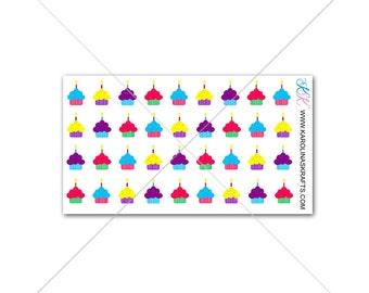 Itty Bitty Birthday Stickers! Birthday Stickers for Planner, Birthday Planner Stickers, Itty Bitty Planner Stickers #SQ00512
