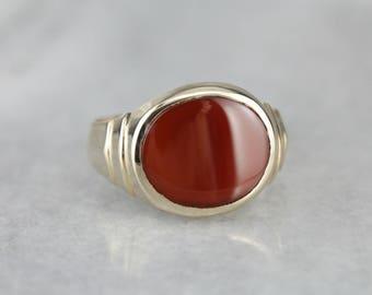 Vintage Moderate Size, Intense Color Carnelian Ring 1AP3PN-P