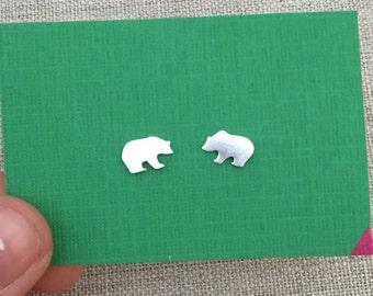 Little Bear Earrings -Sterling Silver Studs