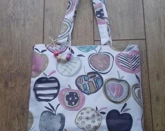 Tote Bag, Colourful fruit Design, unique Design,, internal pocket, Shoulder straps, Cotton