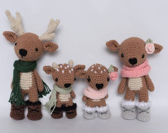 Deer Family Crochet Amigurumi Pattern / Photo Tutorial