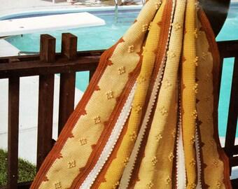 Afghan Crochet Pattern, Crochet Afghan Pattern, Tunisian Crochet Pattern, INSTANT Download Pattern PDF (1012)