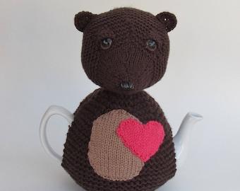 Heart Bear Tea Cosy