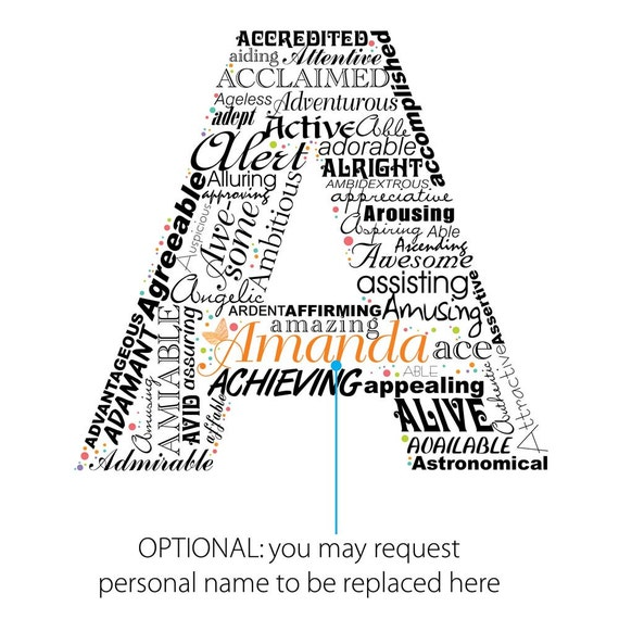 Adjectives That Start With The Letter A Erkalnathandedecker