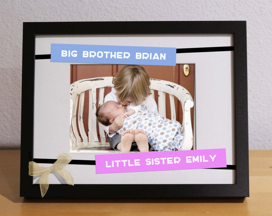 Big Brother Baby Sister Gift BROTHER SISTER FRAME Customized