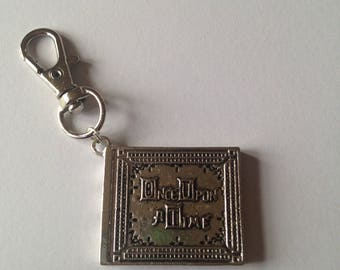 Handmade Once Upon A Time Book Keyring